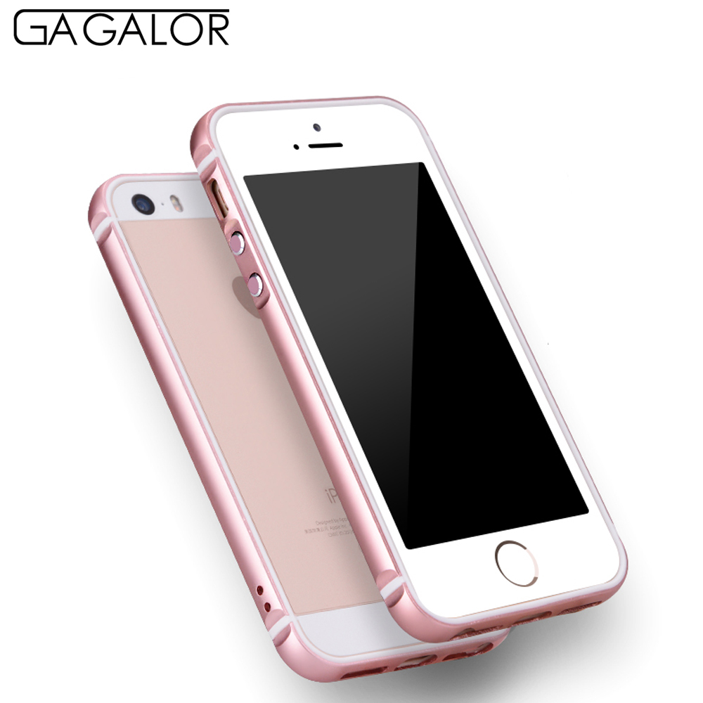 purchase cheap 40d6d 25126 US $6.95 33% OFF|GAGALOR Free Registered shipping Rose gold Aluminum Metal  Truncation Design Phone Frame Bumper Case for iPhone 5S-in Phone Bumpers ...