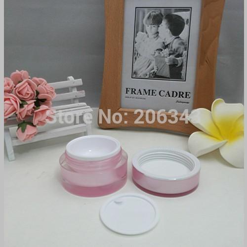 15g goud / parelwitte / roze acrylpot rechtronde zalfpot voor - Huidverzorgingstools - Foto 5