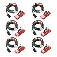 6 шт. концевой ограничитель механический концевой выключатель W/кабель для ЧПУ 3d принтер пандусы