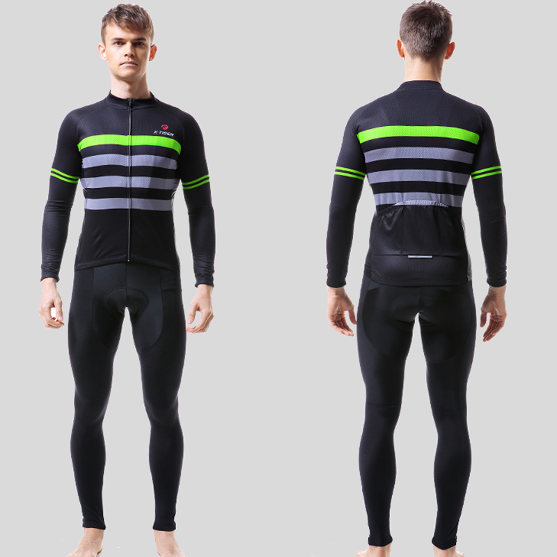 X Tiger Pro Cycling Jersey Set Long Sleeve Mountain Bike Clothes Wear Men Racing Bicycle Clothing Ropa Maillot Ciclismo-in Cycling Sets from Sports & Entertainment    2