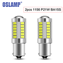 Oslamp 2pc 1156 P21W BA15S Reverse Lights Car Led 33pcs 5630