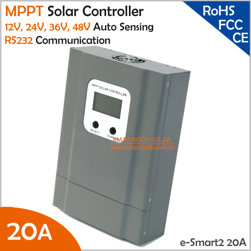 NEW COMING!!! 99.5% Efficiency 12V 24V 36V 48V Auto Recognition 20A MPPT Solar Charge Controller with RS232 Communication Ports 60a mppt solar charge controller with lcd 48v 24v 12v automatic recognition rs232 interface to communicate with computer smart1