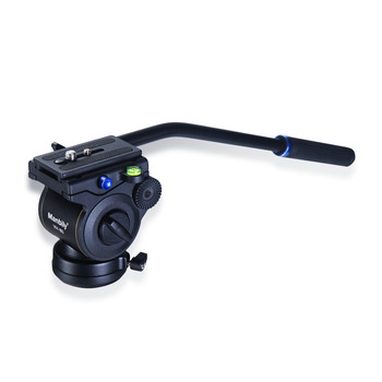 Aluminum Professional Video DSLR Camcorder Fluid Tripod Head Drag Slider Rail Handle Head