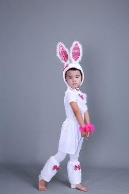 Детский костюм с милым кроликом платье для танцев платье для костюмированной вечеринки с кроликом для взрослых девочек 100-160 см(S-3XL - Цвет: boys short