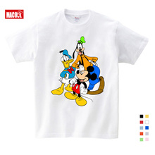 2019 Summer Short Sleeve T shirts Donald Duck Mickey Mouse Cartoon Children Clothing New Fashion Kids Sport T-shirt 3T-9T