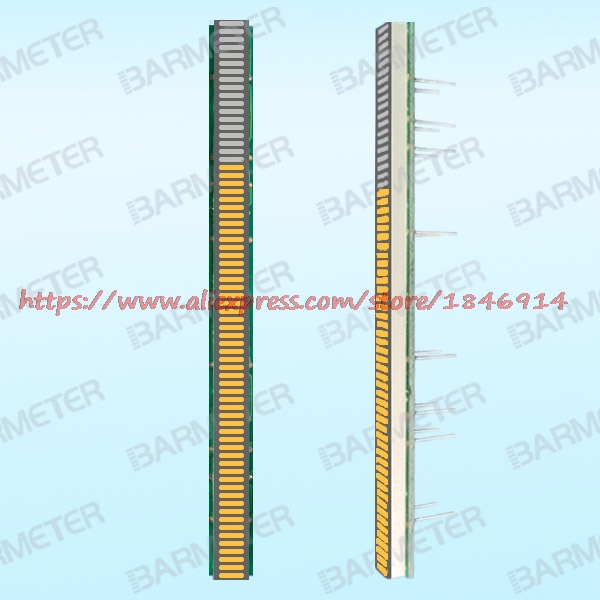 BL64-1005M The 64 section 100mm yellow LED bargraph display