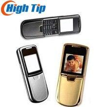 Nokia 8800 золотой телефон английский или русский клавиатура с настольным зарядным устройством кожаный чехол ремешок отремонтированный