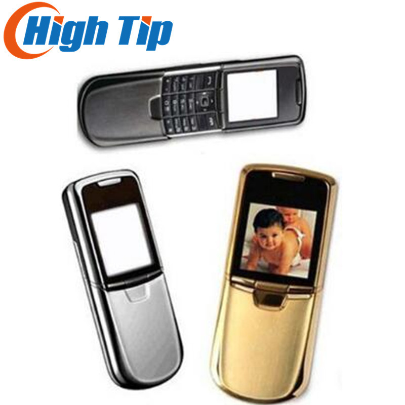 Nokia original 8800 or téléphone portable Anglais ou russe clavier avec chargeur de bureau en cuir case strap Freeship Rénové