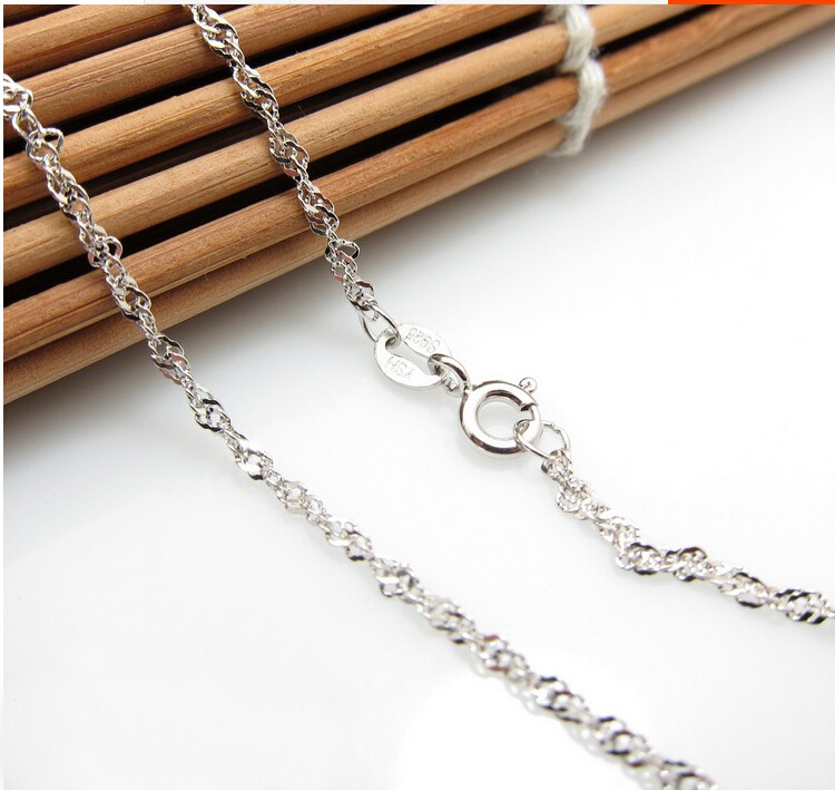 15 inch Pure 925 Sterling Silver Women's Necklace chain S925