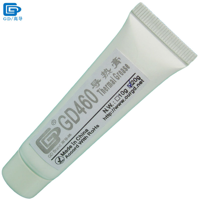 GD Brand Heat Sink Compound GD460 Thermal Conductive Grease Paste Silicone Plaster Silver Net Weight 20 Grams For CPU LED ST20