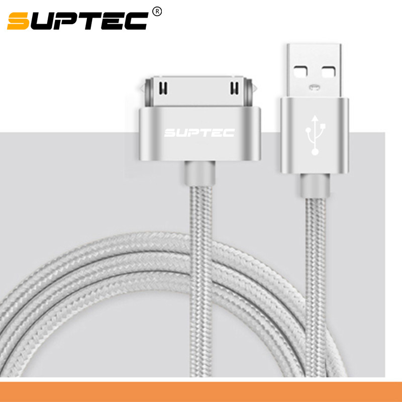 Suptec-30-Pin-USB-Cable-for-iPhone-4s-4-Metal-Plug-Nylon-Braided-Wire-Charger-Cable_