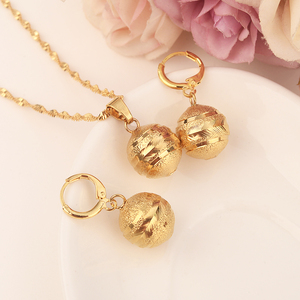 Amazing african beads jewelry set chain women Nigerian wedding gold multi layer necklace/ earring Indian jewelry sets(China)