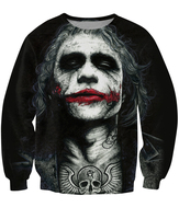 Inked Joker Sweatshirt Badass Tattooed Joker Dark Knight 3d Sweats Women Men Batman DC Comics Superhero