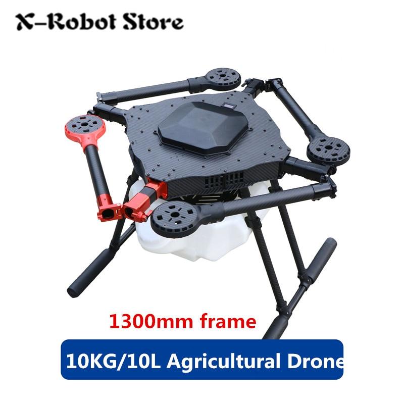DIY 4 osi pompa natryskowa dron rolniczy 1300mm rama/10 KG/10L rozpylanie gimbal system 1300mm rozstaw osi składany UAV Quadcopter w Części i akcesoria od Zabawki i hobby na  Grupa 1