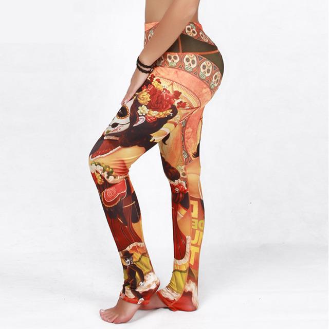 2016 Sexy Calças Quick Dry 3D Impressão de Moda de Nova Alta Qualidade Mulheres Leggings Plus Size Slim Casual Calças Mulheres Esportivos