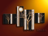 Abstract Oil Painting Fine Art Gift Handicraft Home Decorate Group Painting GP72