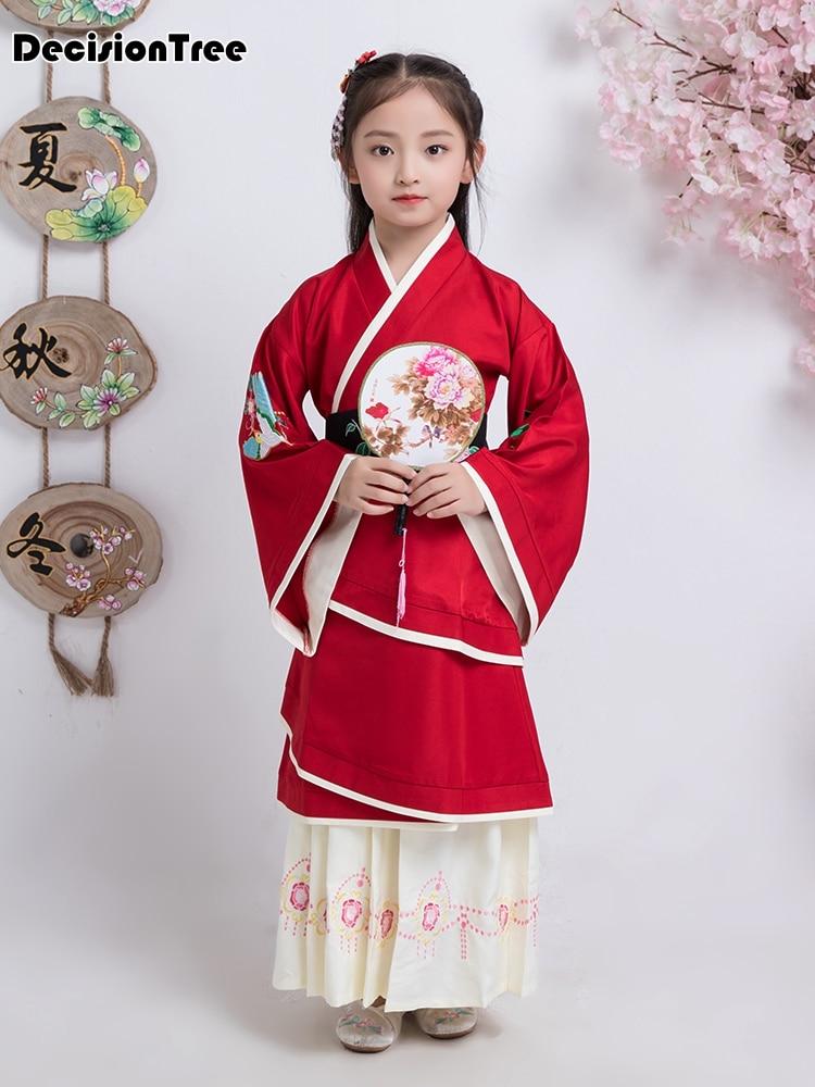 2019 new children chinese traditional costume hanfu dress girl princess performance dance clothing