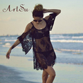 ArtSu Summer Dress 2017  Sexy Loose Lace  Loose Floral Sheer Strap Dresses Boho Dress Off Shoulder Beach Dress ASDR10001