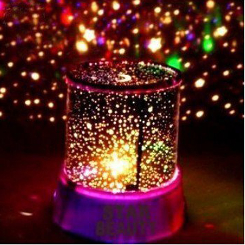 Amazing Romantic Pink LED Night Light Projector Lamp, Colorful Star Master Light, Bedside Lights (with USB Cable)