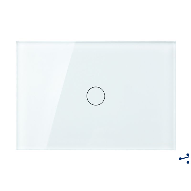 Free Shipping, US AU Standard Touch Switch, 1 Gang 2 Way Control, Crystal Glass Panel,Wall Light Switch,KT001DUS us au standard touch wall switch 1 gang with crystal tempered glass panel and blue led backlight