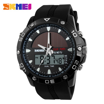 New 2019 SKMEI Brand Solar energy Watch Digital Quartz Men Sports Watches Multifunctional Outdoor Military Wristwatches 1064