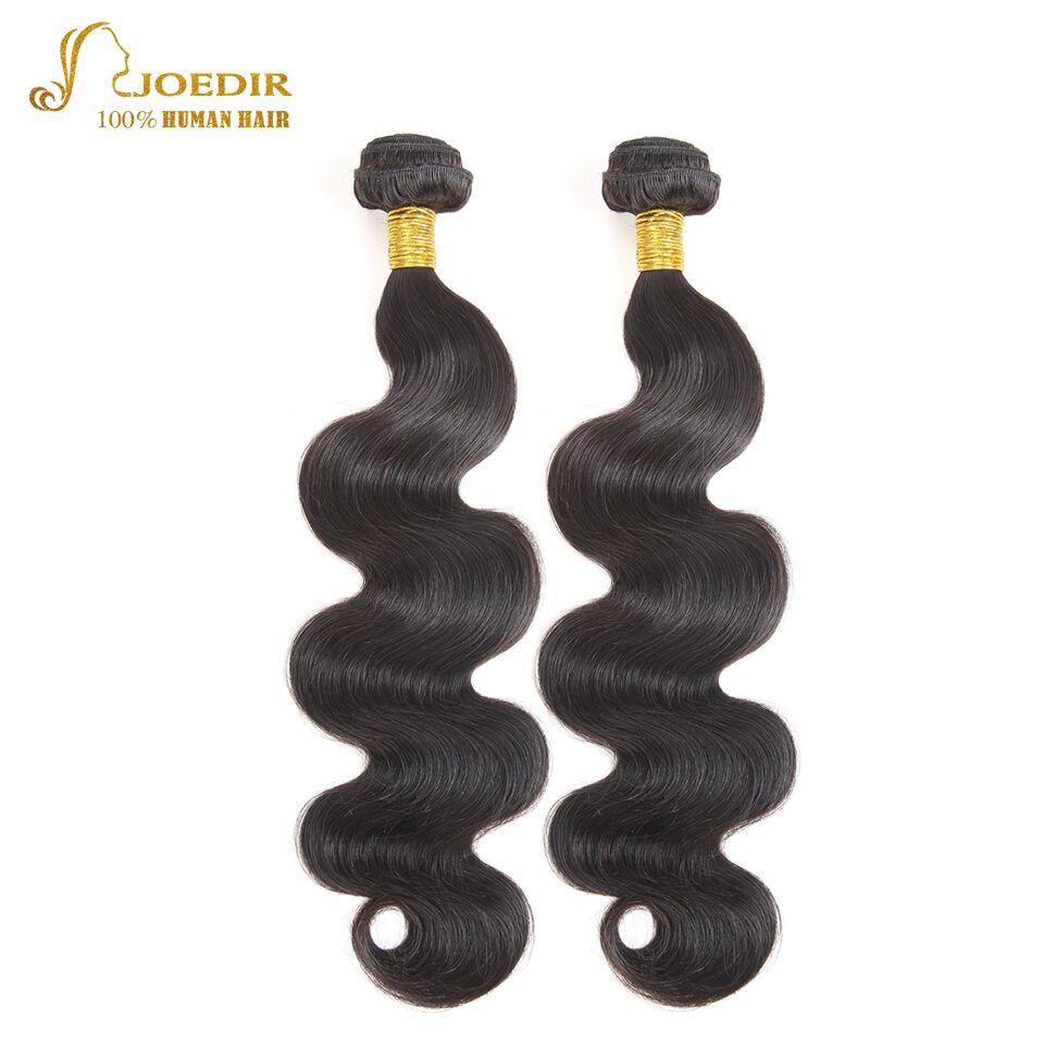 Joedir Hair Products 2 Pieces Brazilian Body Wave Bundles 100% Human Hair Bundles Natural Black 8 - 26 inch Free Shipping
