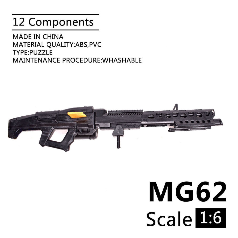1:6 MG62 Machine Gun 1/6 Soldiers Weapons Model Plastic Puzzle Model For 12