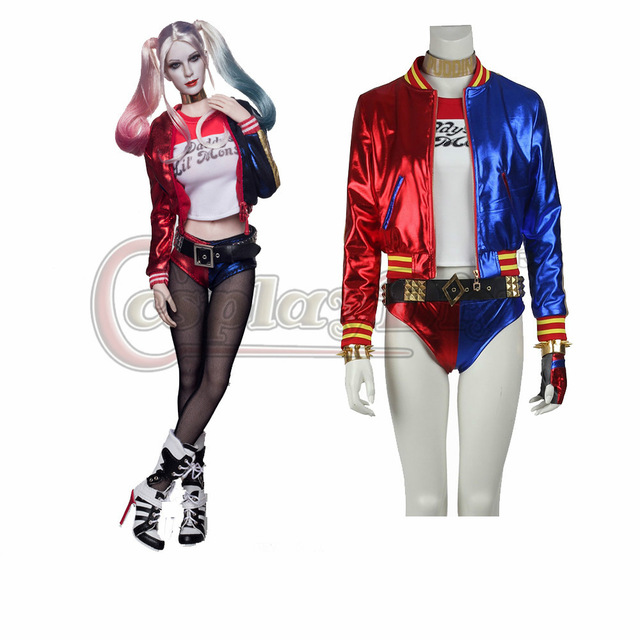 Custom Made Harley Quinn Suicide Squad Cosplay Costume Batman Joker Adult Women Full Set Halloween Carnival