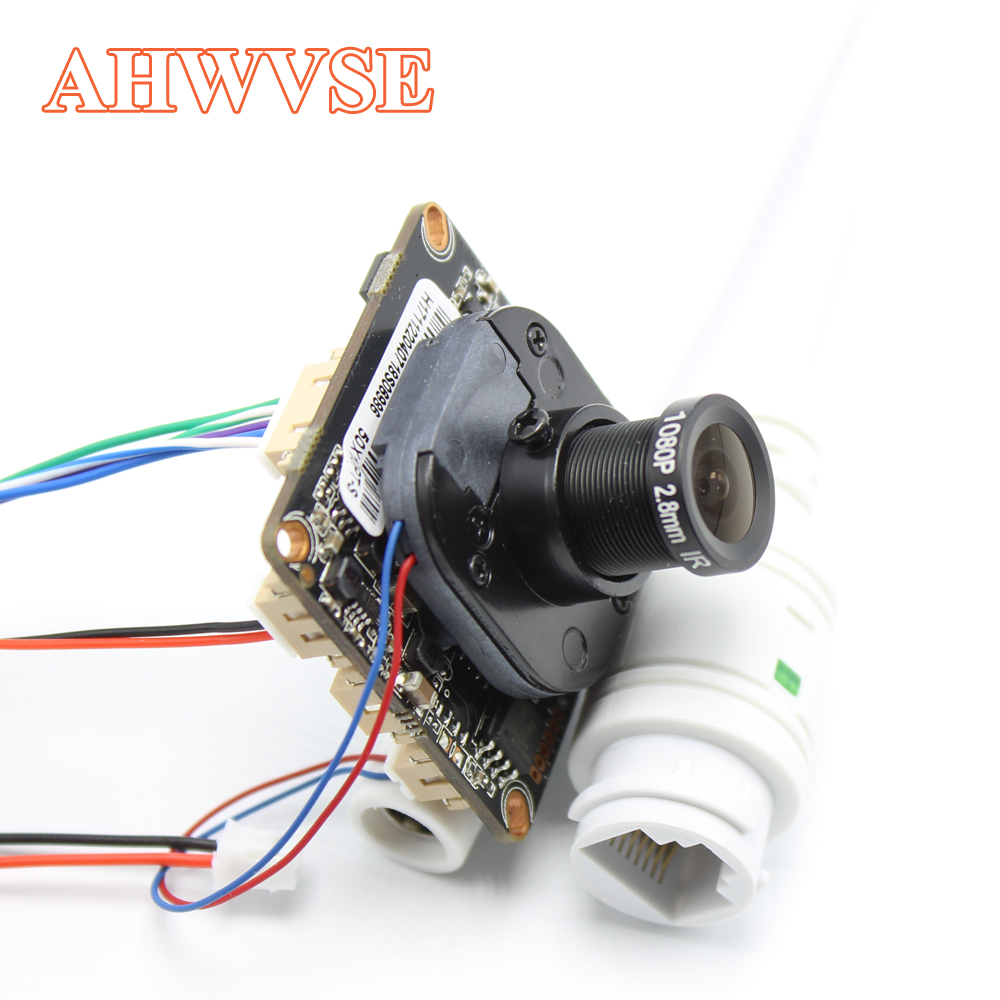 AHWVE DIY 5MP 2MP IP Camera Module Board With IRCUT RJ45 Cable POE ONVIF H264 Mobile APP XMEYE Serveillance CMS 2.8mm Lens