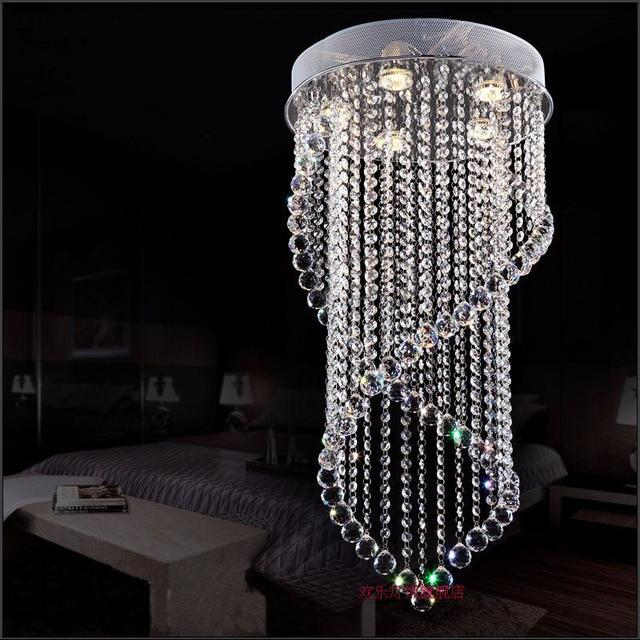 Z Moderne Led Kristall Kronleuchter Vorhänge Hängen Lampe Doppelhelix Kronleuchter  Für Schlafzimmer Restaurant Wohnzimmer Gu10