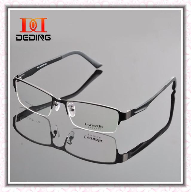 Medio sin montura gafas hombre gafas óptico del Metal montura de gafas de negocios miopía armação de gafas de Grau DD0304-1