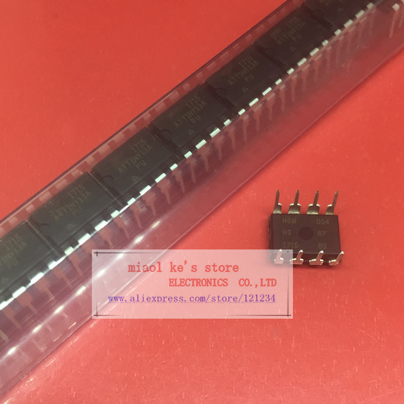 [ 10pcs1lot ] ATTINY13A-PU ATTINY13 ATTINY13 20MHz 1.8V-5.5V  8-bit Microcontroller with 1K Bytes In-System Programmable Flash