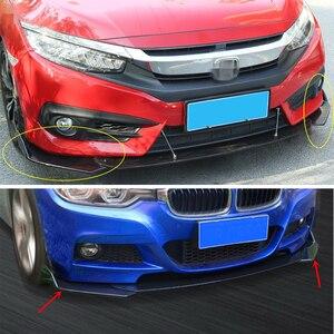 Image 5 - 2pcs Black Car Front Bumper Diffuser Bumper Canard Lip Body Shovels Splitter Lip Body Protector Kit