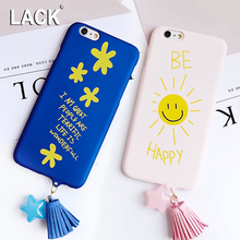 LACK Luxury Star Tassels Pendant Cartoon Case For iphone 6 Case Lovely Sun Flower Letter Phone Cases Cover For iphone 6S 6 Plus
