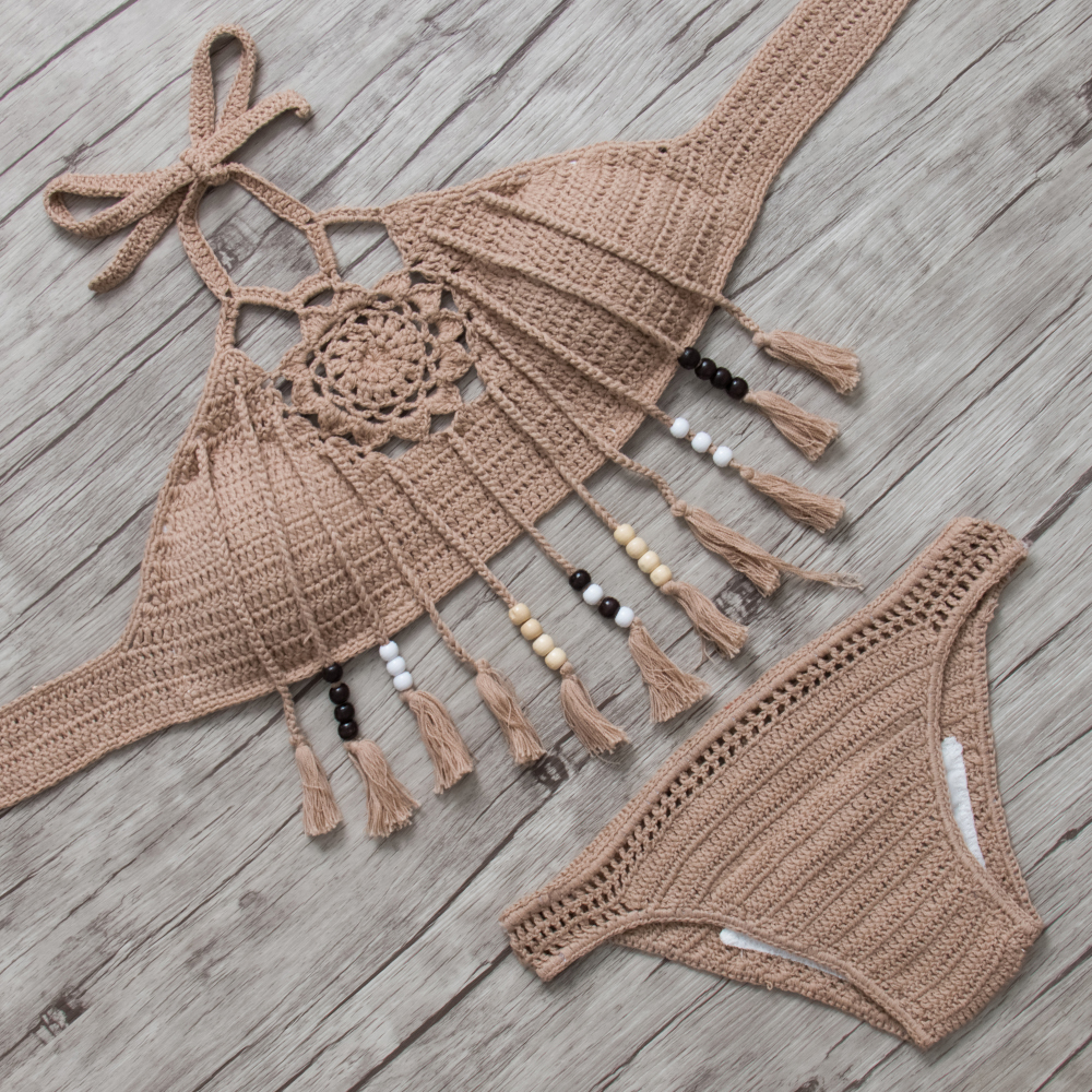 Crochet Bikini Swimsuit Swimwear Women Bikini Set Biquini 2016 Bathing Suit Beachwear Maillot De Bain Femme Swim Suit Swim Wear sexy swimwear women bikini swimsuit push up bikini set biquini 2017 bathing suit maillot de bain femme beach swim wear swim suit