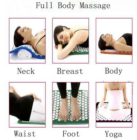 1 комплект йога акупрессура подушка для массажа тела боль стресс рельеф акупунктурный массаж спайк йога коврик с подушка для тела массажер