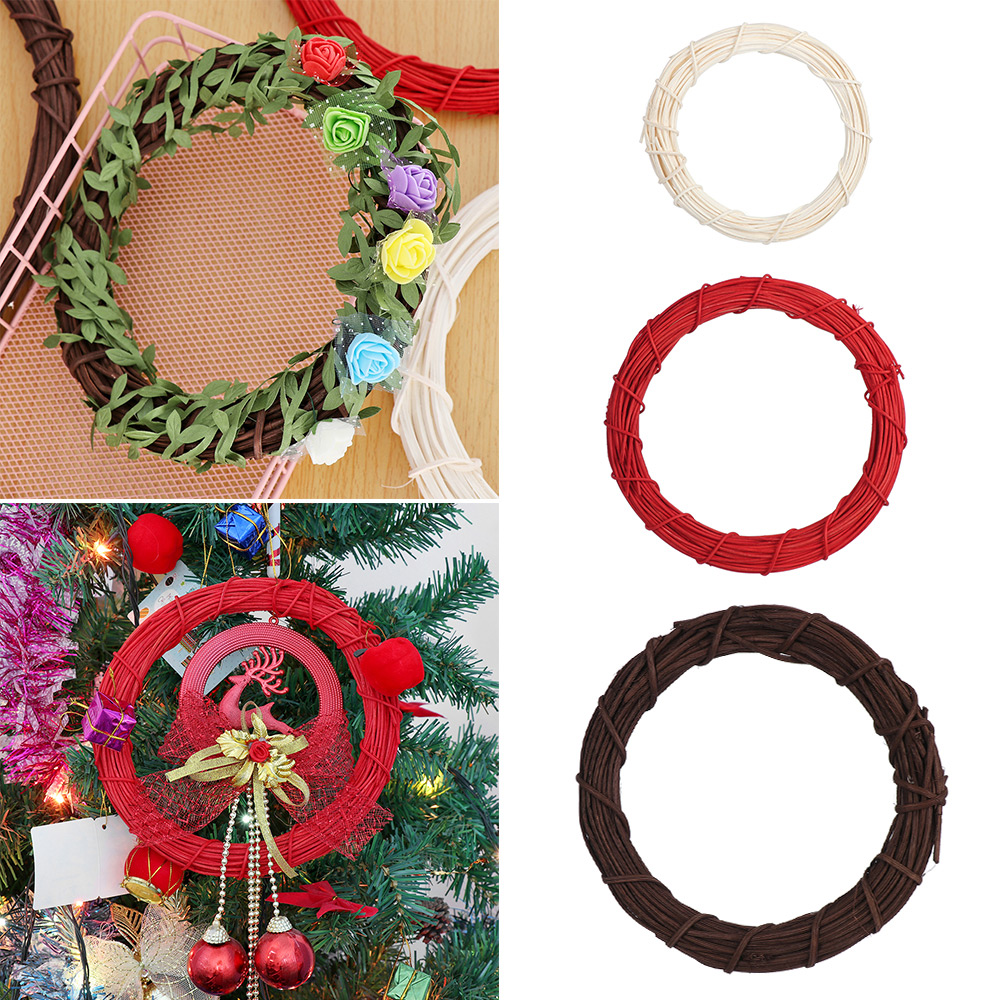 "PACK OF 5 10/"" 14/"" Padded Moss Effect Wreath Rings Christmas Making Bases Frames"