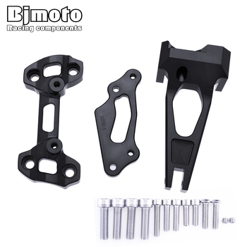 Motorcycle CNC Alloy Steering Damper Mouting Bracket Kits For Yamaha MT09 / MT-09 Street Rally FZ-09 FZ09 2014-2016