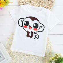 lemonnorange New T-shirts Cotton Short Sleeve Children T Shirts Cute Animal Cartoon T-shirt Candy Color Kids Bottoming T Shirt