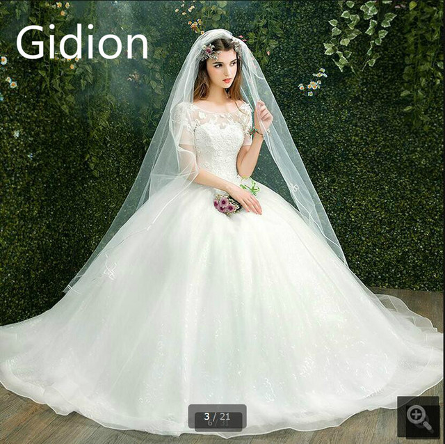 New Arrival Ball Gown Wedding Dresses 2017 Lace Appliques Short
