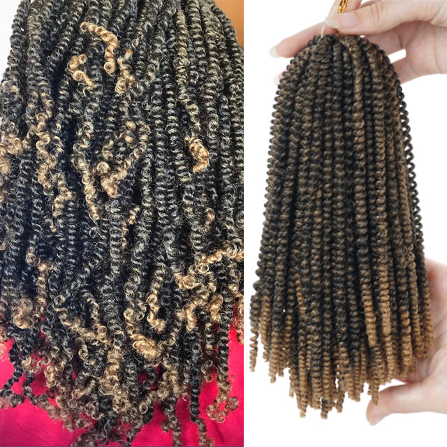 8inch 50strands Nubian Twist Crochet Braids Ombre Synthetic Braiding