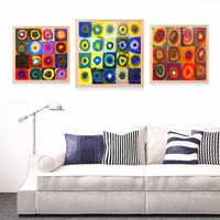 Kandinsky Kids Circle Artwork Canvas Art Painting Poster Wall Pictures For Room Home Decorative Bedroom Decor No Frame