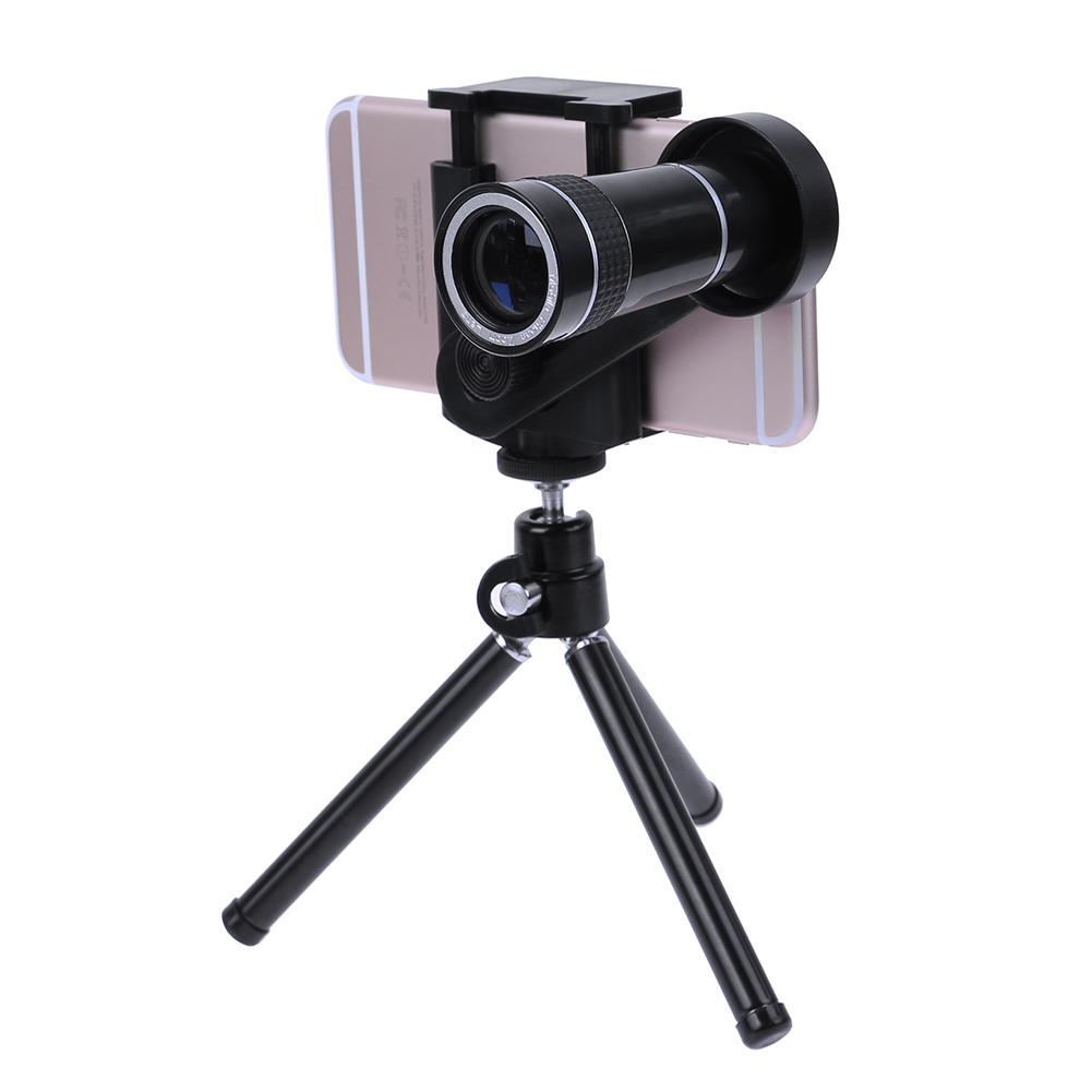 ALLOET 10X Magnified Mobile Phone Telescope Lens For iPhone 8 7 6S Plus Smartphone Monocular Telescope Tripod For iPhone Samsung