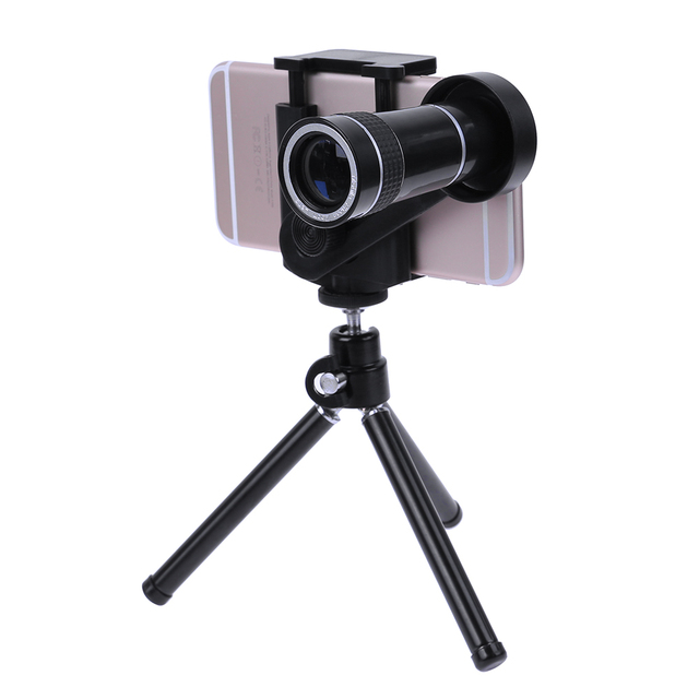 online store 9057e 6b306 US $12.91 29% OFF|ALLOET 10X Magnified Mobile Phone Telescope Lens For  iPhone 8 7 6S Plus Smartphone Monocular Telescope Tripod For iPhone  Samsung-in ...