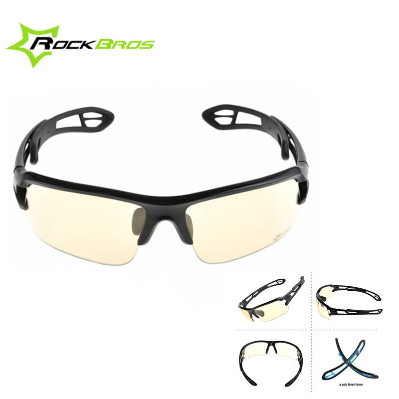 ROCKBROS Photochromic Cycling Glasses Anti-UV400 Bicycle Sunglasses Color-Change Riding Eyewear for Outdoor MTB Road Bike Riding obaolay outdoor cycling sunglasses polarized bike glasses 5 lenses mountain bicycle uv400 goggles mtb sports eyewear for unisex