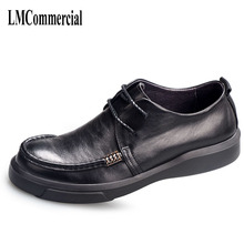 spring and autumn leather business casual shoes British retro men shoes breathable fashion boots comfortable
