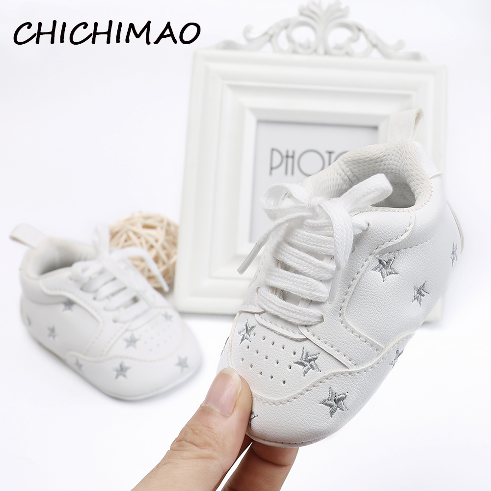 Newborn Booties Baby Shoes Soft PU Leather Baby Shoes First Walkers Anti-slip Toddler Crib 6 Color Available 0-18 Months