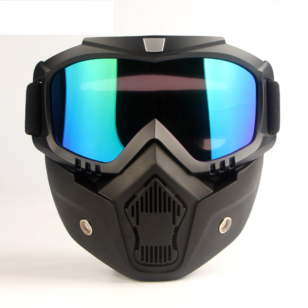 Men Women Durable Bike Motorcycle Helmet Modular Protective Face Mask Detachable Filter Mouth Goggles Working Safety Eyewear