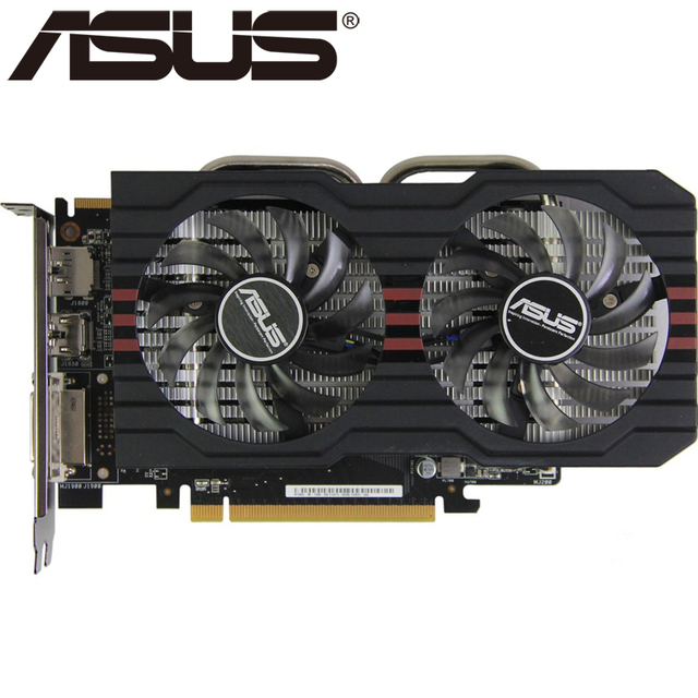 US $46 99 |ASUS Video Card R7 260X 1GB 128Bit GDDR5 Graphics Cards for AMD  Radeon R7260X VGA Cards Used Equivalent GTX 750 TI GTX 750TI-in Graphics