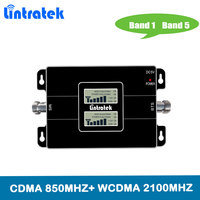 Lintratek DuaL Band 2G 3G 850mhz 2100mhz mobile signal booster cell phone repeater Band1&5 Cellular amplifier For Japan Brazil